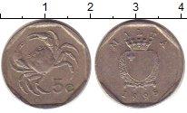 Изображение Дешевые монеты Мальта 5 центов 1995 Медно-никель VG