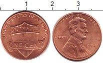 Изображение Дешевые монеты США 1 цент 2014 Медно-никель UNC-