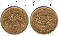 Изображение Дешевые монеты Сингапур 5 центов 2005 Медно-никель XF