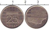 Изображение Барахолка Нидерланды 25 центов 1984 Медно-никель XF
