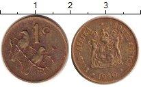 Изображение Дешевые монеты ЮАР 1 цент 1980 Медь VF+