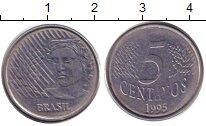Изображение Дешевые монеты Бразилия 5 сентаво 1995 Медно-никель XF