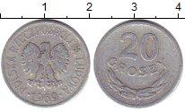 Изображение Барахолка Польша 20 грошей 1969 Алюминий XF