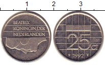 Изображение Барахолка Нидерланды 25 центов 1992 Медно-никель XF-
