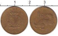 Изображение Дешевые монеты Мальта 1 цент 1991 Медно-никель Fine