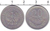 Изображение Дешевые монеты Польша 20 грош 1972 Алюминий VG