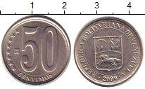 Изображение Дешевые монеты Венесуэла 50 сентим 2009 Медно-никель XF