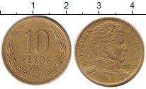 Изображение Дешевые монеты Чили 10 песо 1997 Медно-никель XF
