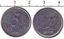 Изображение Дешевые монеты Бразилия 5 сентаво 1995 Медно-никель VF