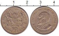 Изображение Барахолка Кения 50 центов 1974 Медно-никель XF