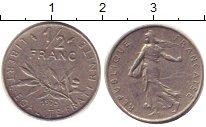 Изображение Барахолка Франция 1/2 франка 1975 Медно-никель XF
