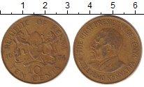 Изображение Дешевые монеты Кения 10 центов 1974 Латунь XF