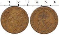 Изображение Барахолка Кения 10 центов 1971 Латунь XF-