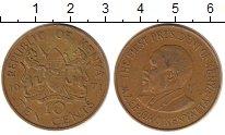 Изображение Дешевые монеты Кения 10 центов 1971 Латунь XF-
