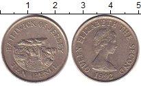 Изображение Дешевые монеты Остров Джерси 10 пенсов 1992 Медно-никель XF