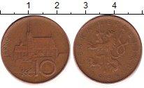 Изображение Дешевые монеты Чехия 10 крон 1995 Бронза VF+