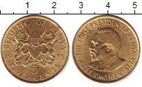 Изображение Барахолка Кения 5 центов 1975 Латунь XF