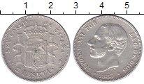 Изображение Монеты Испания 2 песеты 1883 Серебро XF