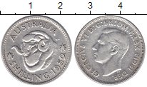 Изображение Монеты Австралия 1 шиллинг 1952 Серебро XF Георг VI