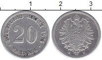 Изображение Монеты Германия 20 пфеннигов 1875 Серебро XF B
