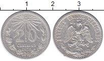 Изображение Монеты Мексика 20 сентаво 1935 Серебро XF