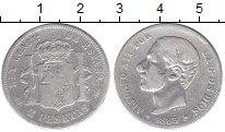 Изображение Монеты Испания 2 песеты 1883 Серебро VF