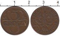 Изображение Монеты Польша 5 грош 1938 Бронза XF-