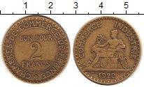 Изображение Монеты Франция 2 франка 1922 Латунь XF
