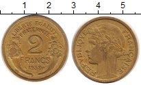 Изображение Монеты Франция 2 франка 1939 Латунь XF