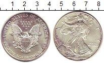Изображение Монеты США 1 доллар 2002 Серебро UNC- Шагающая  Свобода