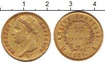 Изображение Монеты Франция 20 франков 1810 Золото XF