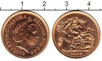 Изображение Монеты Великобритания 1 соверен 2003 Золото UNC