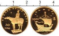 Изображение Монеты Италия 20 евро 2003 Золото Proof-