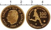 Изображение Монеты Испания 100 евро 2003 Золото Proof- Чемпионат мира по фу