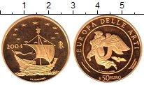 Изображение Монеты Италия 50 евро 2004 Золото Proof-