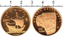 Изображение Монеты Италия 50 евро 2003 Золото Proof-