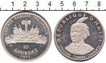 Изображение Монеты Гаити 10 гурдов 1971 Серебро Proof-