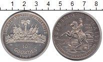 Изображение Монеты Гаити 10 гурдов 1967 Серебро Proof-