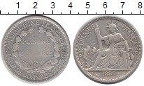 Изображение Монеты Индокитай 1 пиастр 1889 Серебро VF