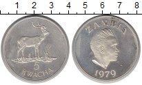 Изображение Монеты Замбия 5 квач 1979 Серебро Proof-