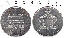 Изображение Монеты Мальта 2 фунта 1973 Серебро UNC-