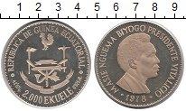Изображение Монеты Экваториальная Гвинея 2000 экуэль 1978 Серебро Proof-