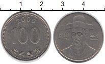 Изображение Дешевые монеты Южная Корея 100 вон 2000 Медно-никель XF-