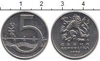 Изображение Дешевые монеты Чехия 5 крон 1993 Медно-никель XF+