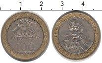 Изображение Дешевые монеты Чили 100 песо 2009 Биметалл XF-