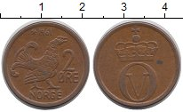 Изображение Дешевые монеты Норвегия 2 эре 1961 Медь XF