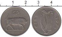 Изображение Дешевые монеты Ирландия 5 пенсов 1974 Медно-никель XF