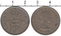 Изображение Барахолка Великобритания 1 шиллинг 1963 Медно-никель XF-