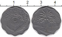 Изображение Дешевые монеты Ирак 5 филс 1975 Медно-никель XF