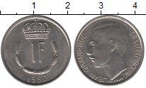 Изображение Дешевые монеты Люксембург 1 франк 1980 Медно-никель XF+